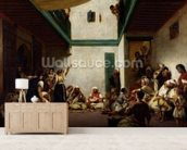 A Jewish wedding in Morocco, 1841 (oil on canvas) wall mural living room preview