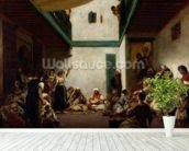 A Jewish wedding in Morocco, 1841 (oil on canvas) wall mural in-room view