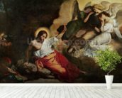Christ in the Garden of Olives, 1827 (oil on canvas) wallpaper mural in-room view