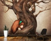 I Love You Old Tree wall mural kitchen preview
