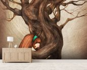 I Love You Old Tree wall mural living room preview