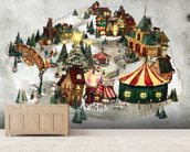 Snow Village wall mural living room preview