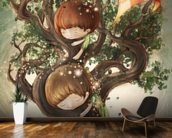 Born by a Tree mural wallpaper kitchen preview