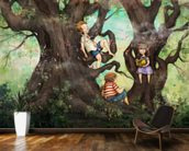 Children Three that Nestle Near wallpaper mural kitchen preview