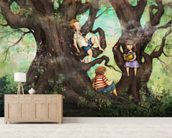 Children Three that Nestle Near wallpaper mural living room preview