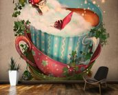 Cuppa mural wallpaper kitchen preview