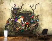 Forest Window wall mural kitchen preview