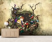 Forest Window wall mural living room preview
