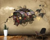 Gypsy Wagon wallpaper mural kitchen preview