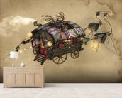 Gypsy Wagon wallpaper mural living room preview