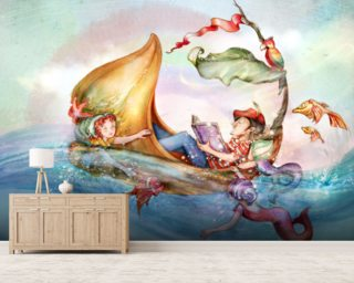The Story Teller mural wallpaper