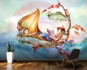 The Story Teller mural wallpaper kitchen preview