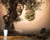 Tree Babies wallpaper mural kitchen preview