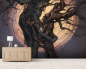 Tree Lovers mural wallpaper living room preview