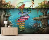 Walk with Me wallpaper mural living room preview