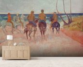Horseman on the Beach (Hiva Hoa) 1902 (oil on canvas) mural wallpaper living room preview