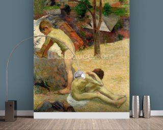 Breton Boys Bathing, 1888 (oil on canvas) (see also 244974) wall mural