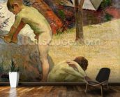 Breton Boys Bathing, 1888 (oil on canvas) (see also 244974) wall mural kitchen preview