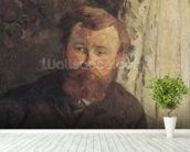 Portrait of Achille Granchi Taylor, 1885 (oil on canvas) mural wallpaper in-room view