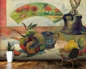 Still Life with a Fan, c.1889 (oil on canvas) wall mural kitchen preview