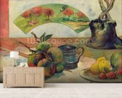 Still Life with a Fan, c.1889 (oil on canvas) wall mural living room preview