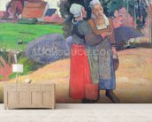 Breton Peasants, 1894 (oil on canvas) wallpaper mural living room preview