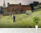 Haymaking in Brittany, 1888 (oil on canvas) mural wallpaper in-room view
