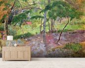 Tropical Landscape, Martinique, 1887 (oil on canvas) wall mural living room preview