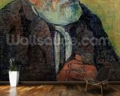 Portrait of an Old Man with a Stick, 1889-90 (oil on canvas) wallpaper mural kitchen preview