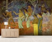 Scene from Tahitian Life, 1896 (oil on canvas) mural wallpaper living room preview