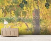 Man Picking Fruit from a Tree, 1897 (oil on canvas) wallpaper mural living room preview