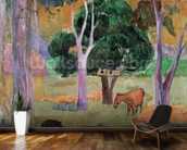 Dominican Landscape or, Landscape with a Pig and Horse, 1903 (oil on canvas) wallpaper mural kitchen preview