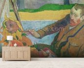 Van Gogh painting Sunflowers, 1888 (oil on canvas) wallpaper mural living room preview