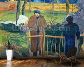 Bonjour, Monsieur Gauguin, 1889 (oil on canvas) wall mural kitchen preview