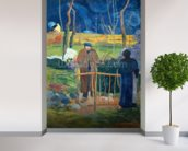 Bonjour, Monsieur Gauguin, 1889 (oil on canvas) wall mural in-room view