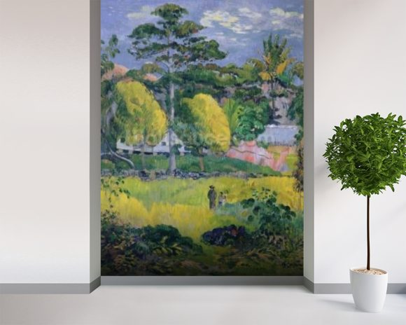 Landscape, 1901 (oil on canvas) wallpaper mural room setting