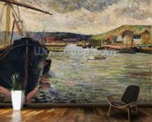 Port at Rouen (oil on canvas) wall mural kitchen preview