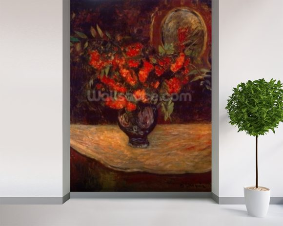Bouquet, 1884 (oil on canvas) mural wallpaper room setting