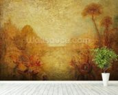 Landscape (oil on canvas) mural wallpaper in-room view