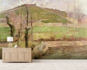 Landscape near Pont-Aven, 1888 (oil on canvas) wall mural living room preview