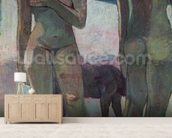 Two Tahitian Women on the Beach, 1891 (oil on canvas) wallpaper mural living room preview