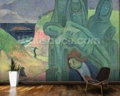 The Green Christ (Breton Calvary) 1889 (oil on canvas) mural wallpaper kitchen preview