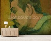 Self Portrait, 1896 (oil on canvas) wall mural living room preview