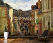 A Suburban Street, 1884 mural wallpaper kitchen preview