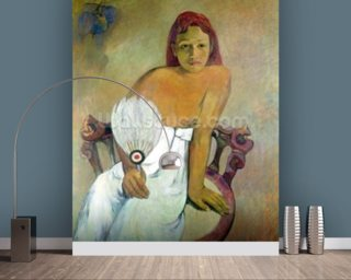 Girl with fan, 1902 (oil on canvas) wall mural