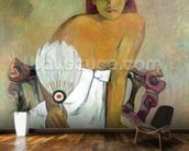 Girl with fan, 1902 (oil on canvas) wall mural kitchen preview