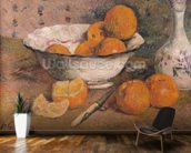 Still life with Oranges, 1881 (oil on canvas) wallpaper mural kitchen preview