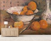 Still life with Oranges, 1881 (oil on canvas) wallpaper mural living room preview