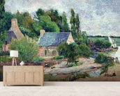 Washerwomen at Pont-Aven, 1886 (oil on canvas) wallpaper mural living room preview