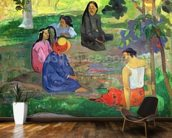 Les Parau Parau (The Gossipers), or Conversation, 1891 (oil on canvas) wall mural kitchen preview